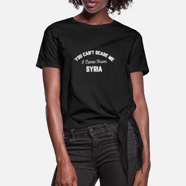 Syria I Came From Syria - Women's Knotted T-Shirt