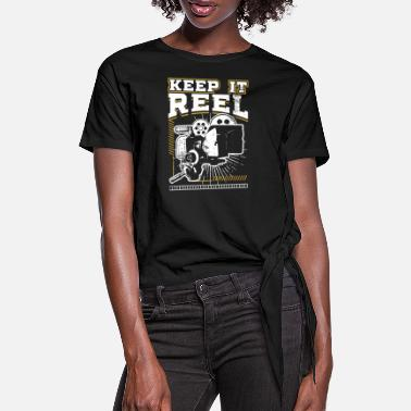Glamour Grappig Keep It Real Filmmakers Film Lovers Gift - Vrouwen Geknoopt shirt