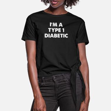 Christmas I'm A Type 1 Diabetic - Women's Knotted T-Shirt