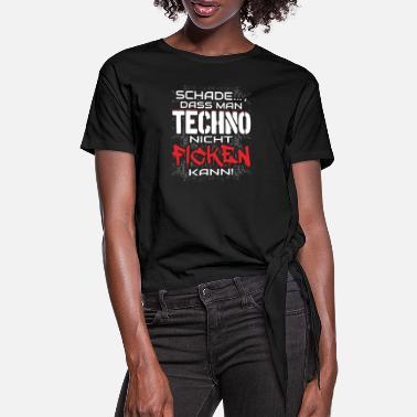 House Techno Rave EDM Electronic Dubstep D&B - Frauen Knotenshirt