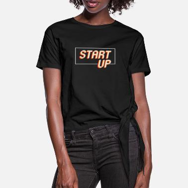 Start Start op - Dame knot-shirt