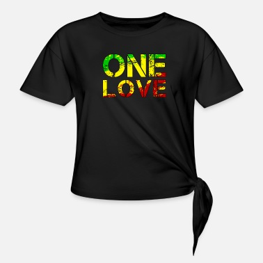 One One Love - Reggea music - Knotted T-Shirt