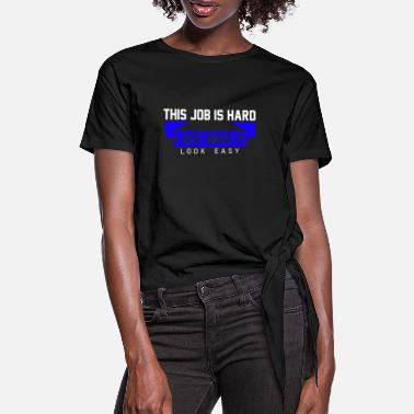 Lieferant Straight outta the Post Office Postbote Postler - Frauen Knotenshirt