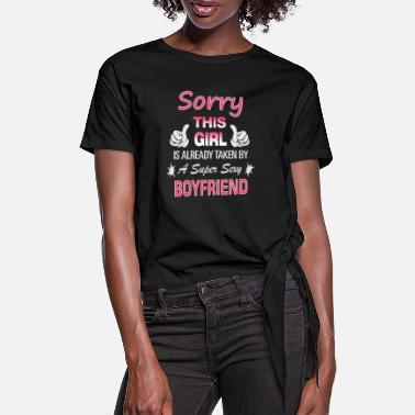 Relationship This Girl is already taken by - Women's Knotted T-Shirt