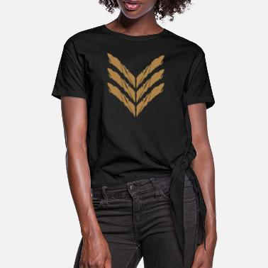 Rank Rank Insignia General Soldier - Women's Knotted T-Shirt