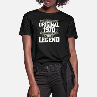 Myth Year of birth 1970 50th birthday Legend 50 years - Women's Knotted T-Shirt