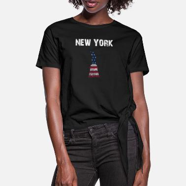 Nationalsymbol By Design New York Liberty YnoEFh - Dame knot-shirt