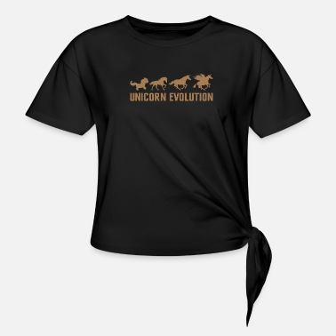 Darwin Unicorn Unicorn Evolution Funny Animal Darwin T-Shirt - Knotted T-Shirt