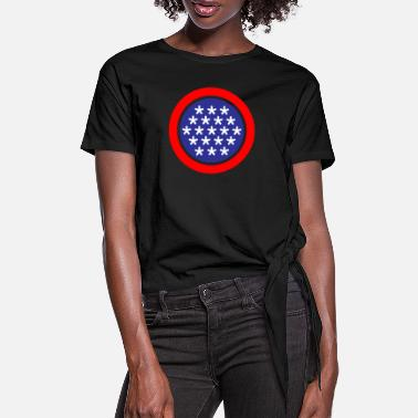 Stars And Stripes Stars and Stripes - Women's Knotted T-Shirt