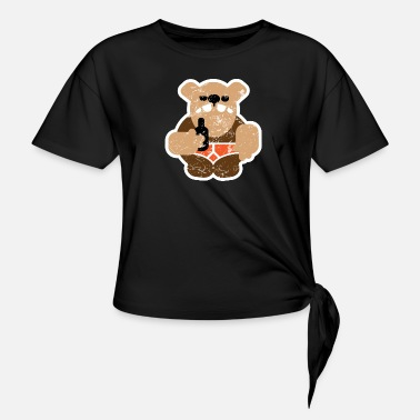 South Coast Bears beer bear distressed - Knotted T-Shirt