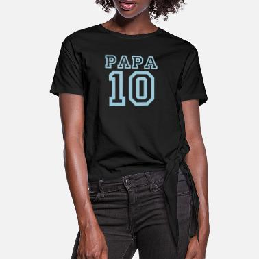 Papa 2010 Papa 2010 blue - Women's Knotted T-Shirt
