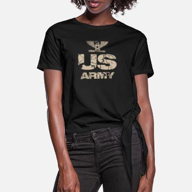 Us Army us army design - Women's Knotted T-Shirt