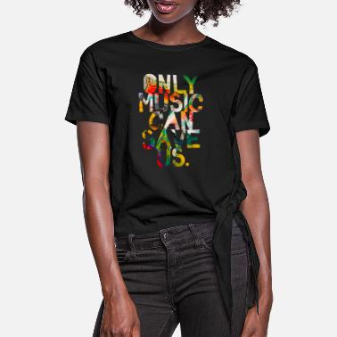 Festival Only music can save us - Women's Knotted T-Shirt