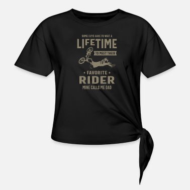 Bmx Favorite Rider Mine Calls Me Dad - Knotted T-Shirt