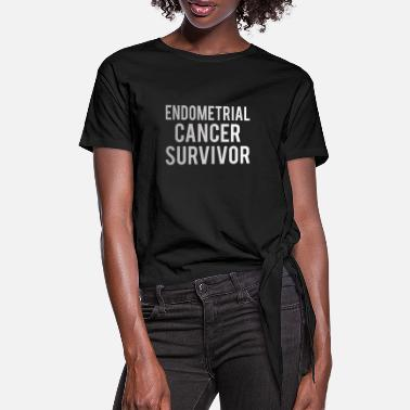 Endometrial Cancer Poison Endometrial Cancer: Endometrial Cancer Survivor - Women's Knotted T-Shirt