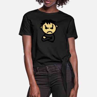 Bad Mood bad mood - Women's Knotted T-Shirt