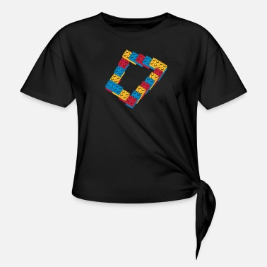 Community System Web Online Webb Code Software Hemsida Html optical illusion - endless stairway - T-shirt med knut