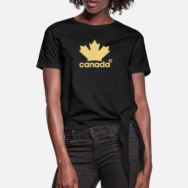 Canadian Proudly Canadian - T-shirt med knut dam