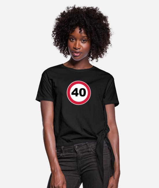 Celebrate Birthdayshirt T-Shirts - 40Th birthday 40 round birthday 3 c. - Women's Knotted T-Shirt black