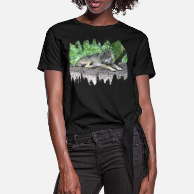 Grey Wolf Grey Wolf - Women's Knotted T-Shirt