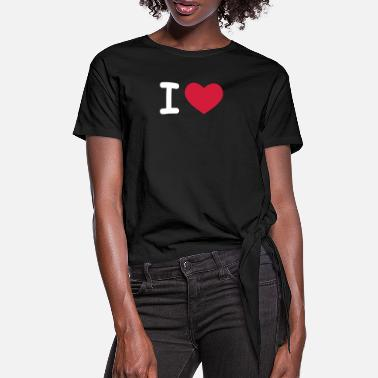 I Love / I Heart - Women's Knotted T-Shirt