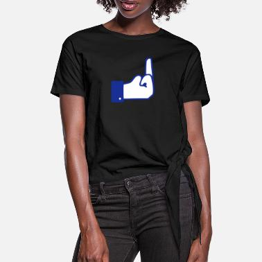 Fuck You Fuck you 2 colors - T-shirt à nœud Femme