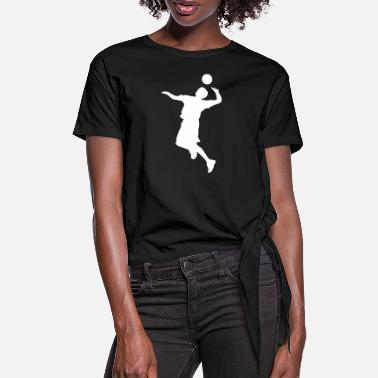 Volley Volley Sillhouette - Women's Knotted T-Shirt
