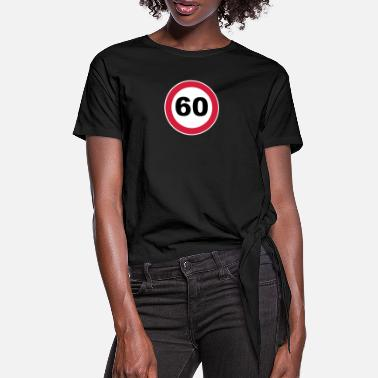 Round Birthday 60Th birthday 60 round birthday round 3 c. - Women's Knotted T-Shirt