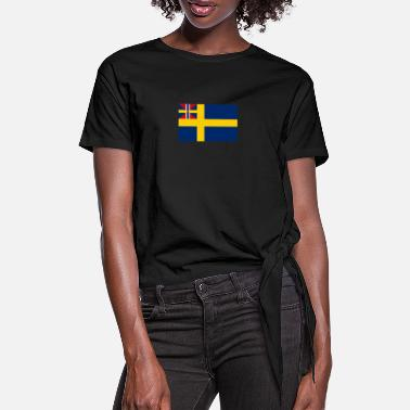 1905 Swedish Union flag with Norway 1844-1905 - Women's Knotted T-Shirt