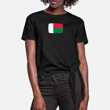 Madagascar Madagascar flag Madagascar flag Madagascar - Women's Knotted T-Shirt