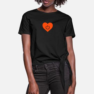 Datum power of love v1 - T-shirt med knut dam