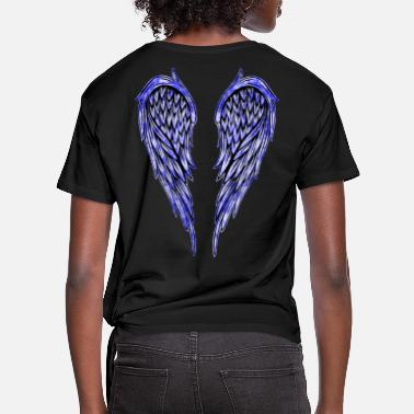 Angelwings Angel Wings Wing Sky Blue - Women's Knotted T-Shirt