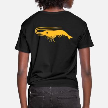 Shrimp single shrimp prawn with antennae - Women's Knotted T-Shirt