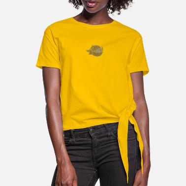 Chat Chat - Women's Knotted T-Shirt