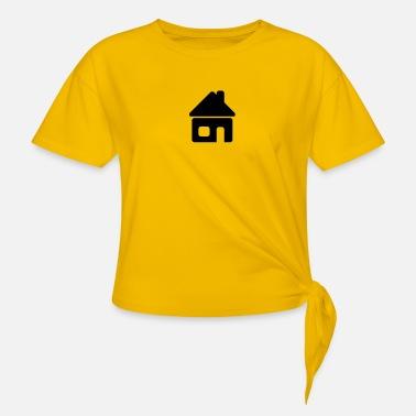 Lite hus logo T skjorte for kvinner   Spreadshirt
