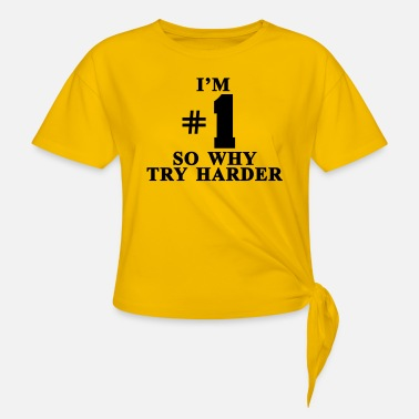 Fatboy Slim I'm #1 So why try harder - T-shirt à nœud