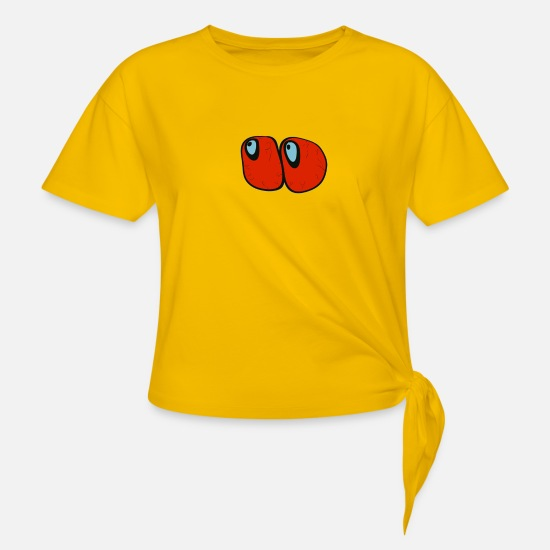 Stoner T-Shirts - Red eyes - Knotted T-Shirt sun yellow