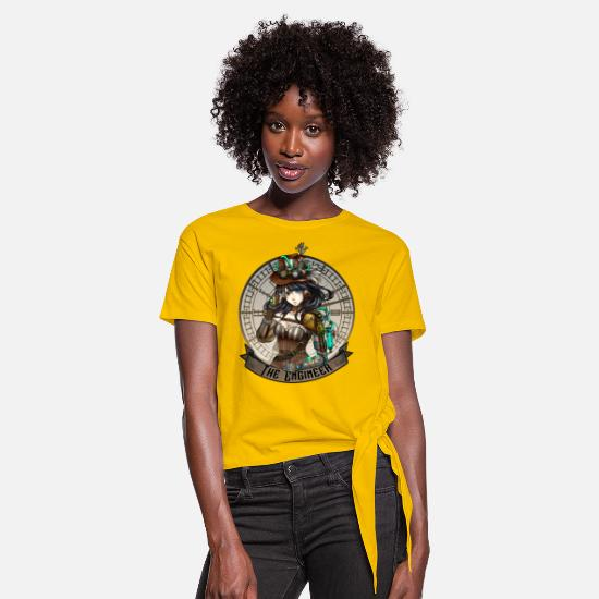 Steampunk T-shirts - The Engineer - T-shirt à nœud jaune soleil