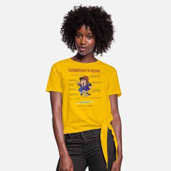 Thelwell T-Shirts - Thelwell - Learning to ride - Knotted T-Shirt sun yellow