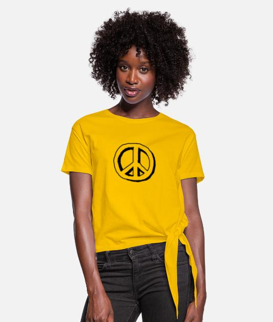 Daughter T-Shirts - Peace gift idea for everyone - Women's Knotted T-Shirt sun yellow