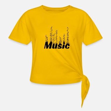 music1 - Knotted T-Shirt
