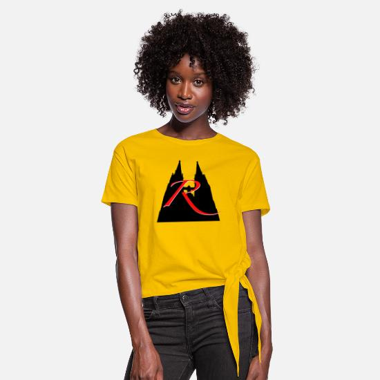 Memory T-Shirts - R like Regensburg: Dom St. Peter - Women's Knotted T-Shirt sun yellow
