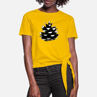 Pine Pine pine cone Pine cone - Women's Knotted T-Shirt