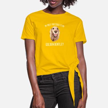 Bentley Golden Retriever Bentley Hundeperson Geschenk - Frauen Knotenshirt