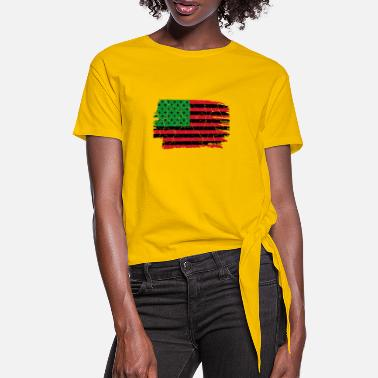 African American African American flag African American gift - Women's Knotted T-Shirt