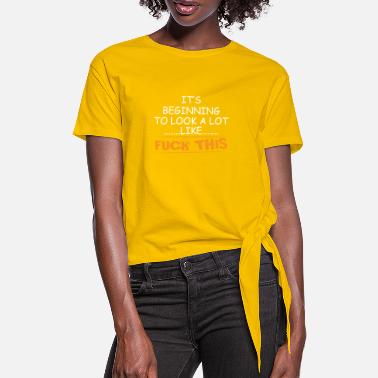 Comedian Fuck this joker and comedian gift - Women's Knotted T-Shirt