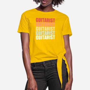 Acoustic Guitar Guitar guitarist music nature retro gift idea - Women's Knotted T-Shirt