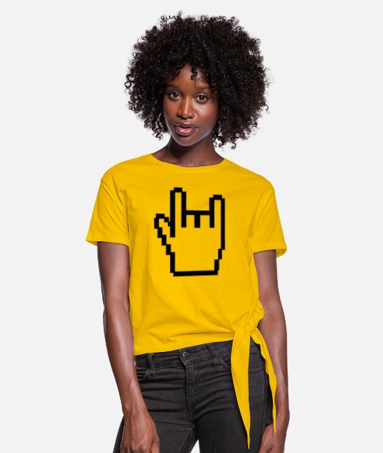 Finger T-Shirts - metal - Women's Knotted T-Shirt sun yellow