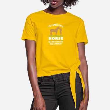 Funny Horses funny horse farm girl horse rider - Women's Knotted T-Shirt