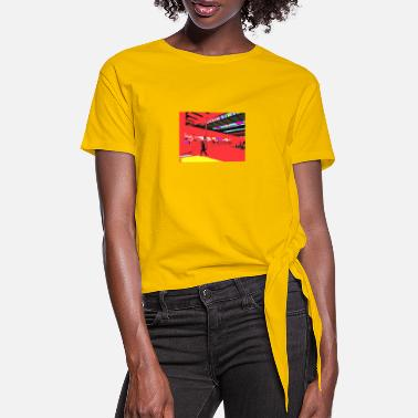 Railway Station railway station - Women's Knotted T-Shirt